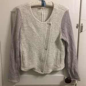 🙂3 for $10 LOFT knit Asymmetric sweater jacket